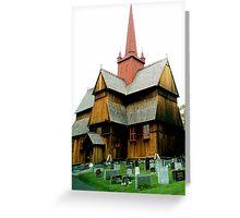 Ringebu stavkyrkje Greeting Card