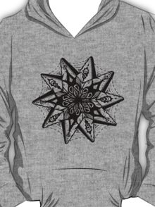 Star Tangles 1 Black - An Aussie Tangle by Heather Holland - See Description Notes for Colour Options.  T-Shirt