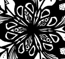 Star Tangles 1 Black - An Aussie Tangle by Heather Holland - See Description Notes for Colour Options.  Sticker
