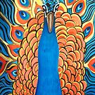 Show off, Peacock Portrait oil pinting by coolart