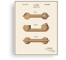 Telephone Handset Patent - Colour Canvas Print