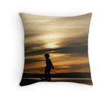 Play at Sunset Throw Pillow