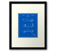 Telephone Handset Patent - Blueprint Framed Print