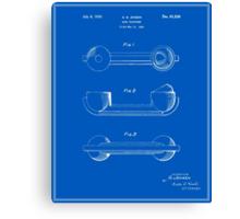 Telephone Handset Patent - Blueprint Canvas Print