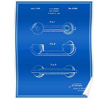 Telephone Handset Patent - Blueprint Poster