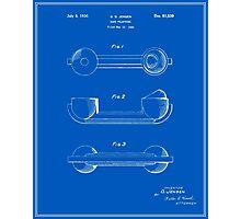 Telephone Handset Patent - Blueprint Photographic Print