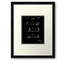 Telephone Handset Patent - Black Framed Print