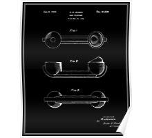 Telephone Handset Patent - Black Poster