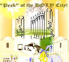 Peek at the HOLY City ( Computer artwork) by RealPainter