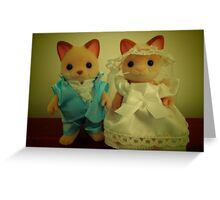 Sylvanian Families ~ Cat Wedding Bride and Groom Greeting Card