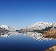 Winter reflections in Loch Clunie. by John Cameron