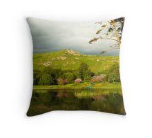 Late evening stillness at Lochan Dubh near Lochailort. Throw Pillow