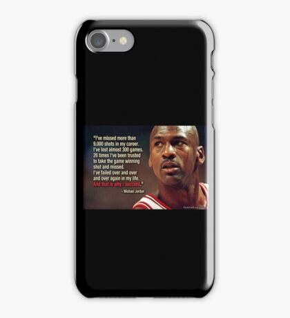 Michael jordan quote iPhone Case/Skin