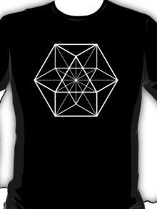 White on Black cube-octahedron  T-Shirt