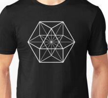 White on Black cube-octahedron  Unisex T-Shirt