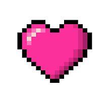 8-bit Heart Pink by SparxTraxx