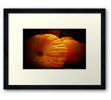 Big Orange Pumpkins Framed Print