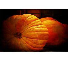 Big Orange Pumpkins Photographic Print
