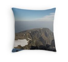 Early morning on the higher reaches of Ben Nevis. Throw Pillow