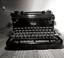 Vintage typewriter by Linda Matlow