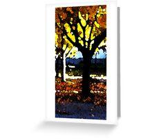 Lönnar i morgonsol - maple trees Greeting Card