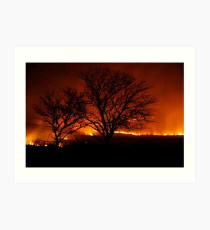 Burning of the Flint Hills Art Print