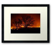 Burning of the Flint Hills Framed Print