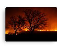 Burning of the Flint Hills Canvas Print