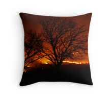 Burning of the Flint Hills Throw Pillow