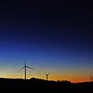 Windmills At Night by hurky