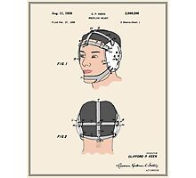 Wrestling Helmet Patent - Colour Photographic Print