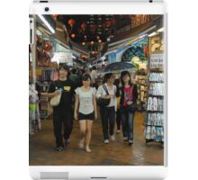 2 Couples in China Town, Singapore iPad Case/Skin