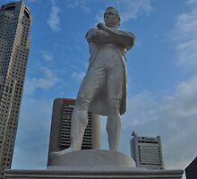 Statue of Sir Thomas Raffles by Christian Eccleston