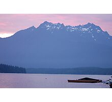 SUNSET AT LAKE CUSHMAN IN WASHINGTON Photographic Print