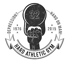 Athletic sport logo old school style Photographic Print
