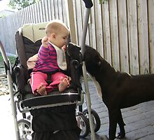Baby and Dog by Hunnie