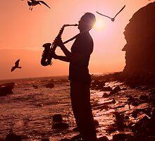 Sax at Sunset by john graf