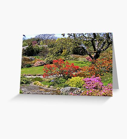 ABKHAZI Gardens, Victoria, BC, Canada Greeting Card