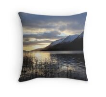 Winter Sunset over Loch Lochy. Throw Pillow