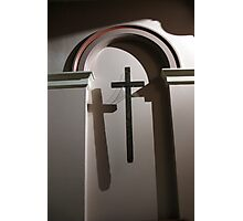 Cross in Shadow Photographic Print