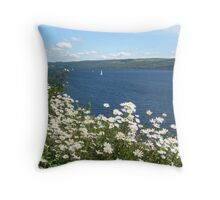 A Sail On Loch Ness Throw Pillow