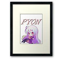 Pyon! feat. Shiro (No Game No Life) Framed Print