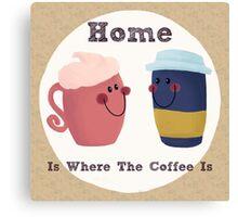 Cute Coffee Couple Canvas Print