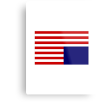 House Of Cards Flag Metal Print