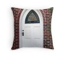 Stained Glass Door Throw Pillow