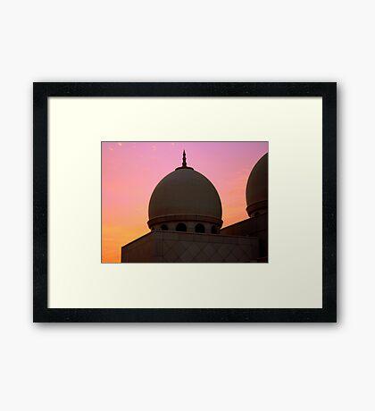 Called at Sunset Framed Print