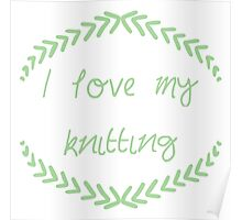 I love my knitting, green Poster