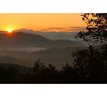 sunrise in the Smokies Photographic Print
