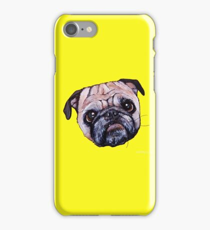 Butch the Pug - Yellow iPhone Case/Skin