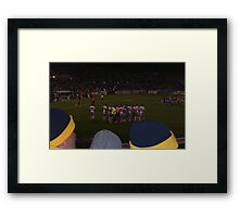 Raiders V's Dragons Framed Print